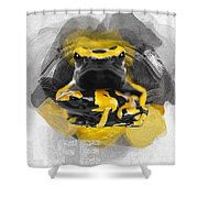 Yellow Poison Dart Frog No 04 Shower Curtain