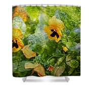 Yellow Pretty Little Flowers Shower Curtain