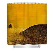 Yellow Pyramid Shower Curtain