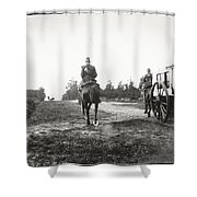 Yellow Riders On Horseback Near Arnhem Shower Curtain