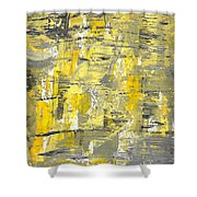 Yellow Sadness Shower Curtain