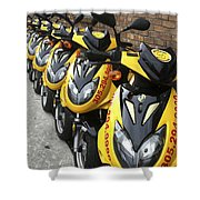 Yellow Scooters Shower Curtain
