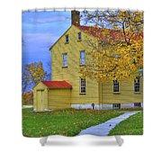 Yellow Shaker House 2 Shower Curtain