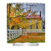 Yellow Shaker House 4 Shower Curtain