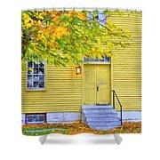 Yellow Shaker House Shower Curtain