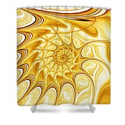 Yellow Shell Shower Curtain