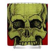 Yellow Skull Shower Curtain