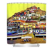 Yellow Sky In Positano Shower Curtain