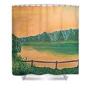 Yellow Sky Shower Curtain
