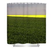 Yellow Skyline Shower Curtain
