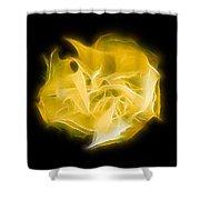 Yellow Solar Plexus Chakra Shower Curtain