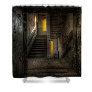 Yellow Stairs Shower Curtain