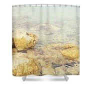 Yellow Stone Of Livadh Shower Curtain