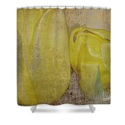 Yellow Strands Shower Curtain