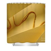 Yellow String Shower Curtain