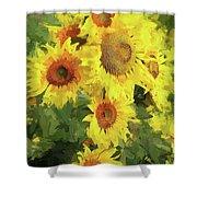 Yellow Sunflowers Shower Curtain