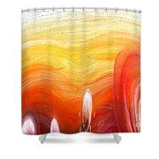 Yellow Sunlight Abstract Art Shower Curtain