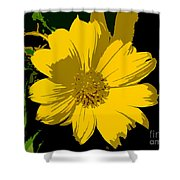 Yellow Sunshine Work Number 8 Shower Curtain