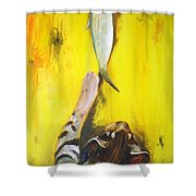 Yellow Tail Shower Curtain