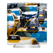 Yellow Taxis Shower Curtain