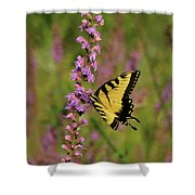 Yellow Tiger Shower Curtain