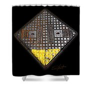 Yellow Tip Shower Curtain