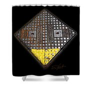 Yellow Tip Shower Curtain