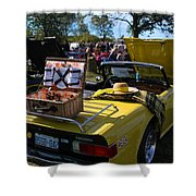 Yellow Tr6 Shower Curtain
