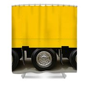 Yellow Truck Shower Curtain by Carlos Caetano