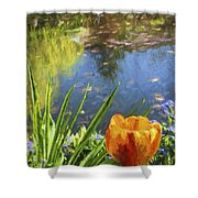 Yellow Tulip In Giverny  Shower Curtain