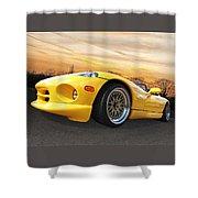 Yellow Viper Rt10 Shower Curtain