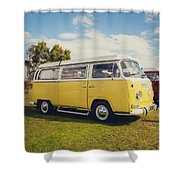 Yellow Vw T2 Camper Van 02 Shower Curtain