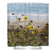 Yellow Wildflowers- Art By Linda Woods Shower Curtain