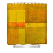 Yellow With Orange Shower Curtain