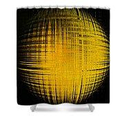 Yellow Word  Shower Curtain