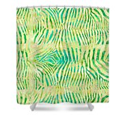 Yellow Zebra Print Shower Curtain