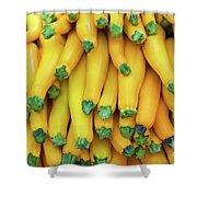 Yellow Zucchini Shower Curtain