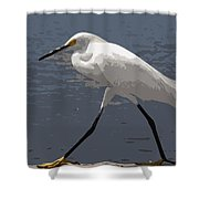 Yellowfeet Shower Curtain