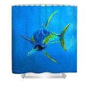 Yellowfin Tuna Three Shower Curtain