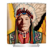 Yellowhead, A North America Indian Medical Practitioner Shower Curtain