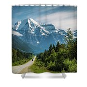 Yellowhead Highway In Mt. Robson Provincial Park, Canada Shower Curtain