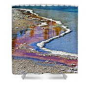 Yellowstone Abstract I Shower Curtain