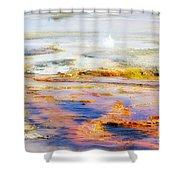 Yellowstone Abstract II Shower Curtain