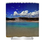 Yellowstone Blues Shower Curtain