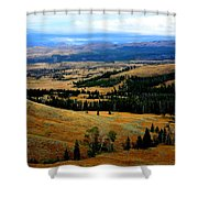 Yellowstone Shower Curtain by Carrie Putz