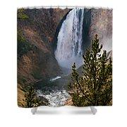 Yellowstone Grand Canyon Falls Shower Curtain