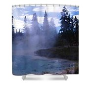 Yellowstone Haze Shower Curtain