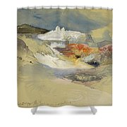 Yellowstone, Hot Springs, July 21, 1892 Shower Curtain