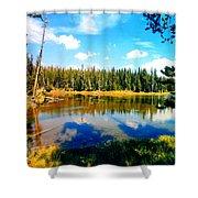 Yellowstone Lake In Summer Shower Curtain