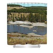 Yellowstone Mineral Ponds Shower Curtain